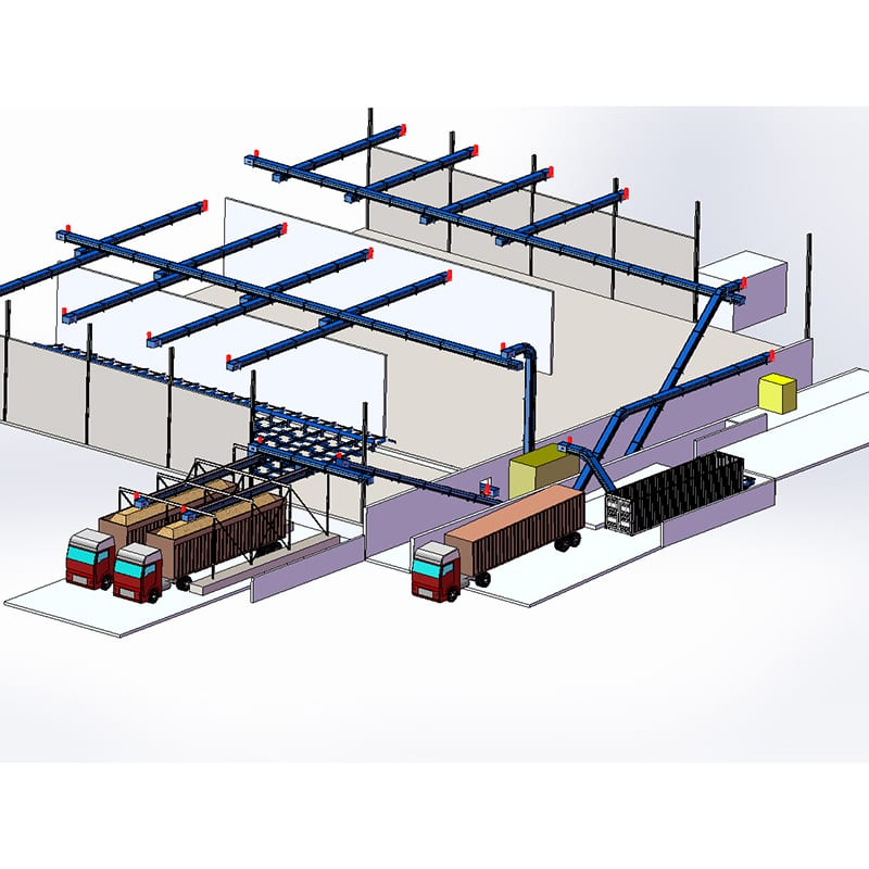 Bulk material handling system - rendering for industrial automation