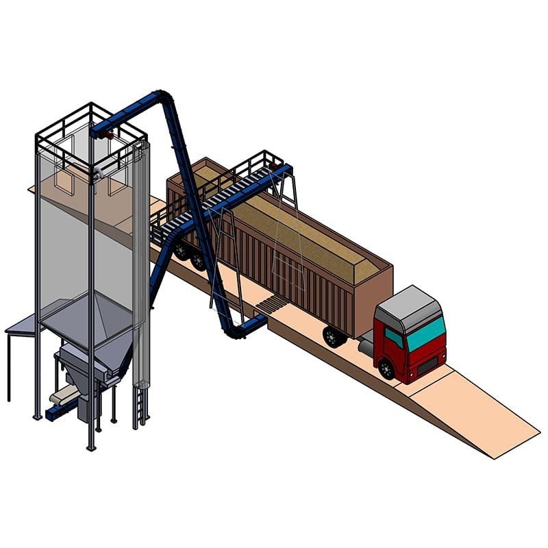Pellet loading station - load out - biomass engineering & equipment - materials handling