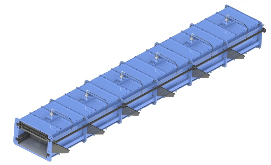 conveyor deluge system for fire suppression