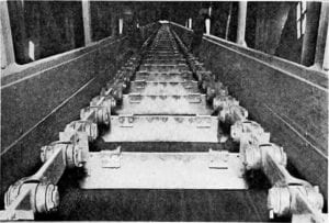 Image from Material Handling Cyclopedia - 1921 - paddle conveyor