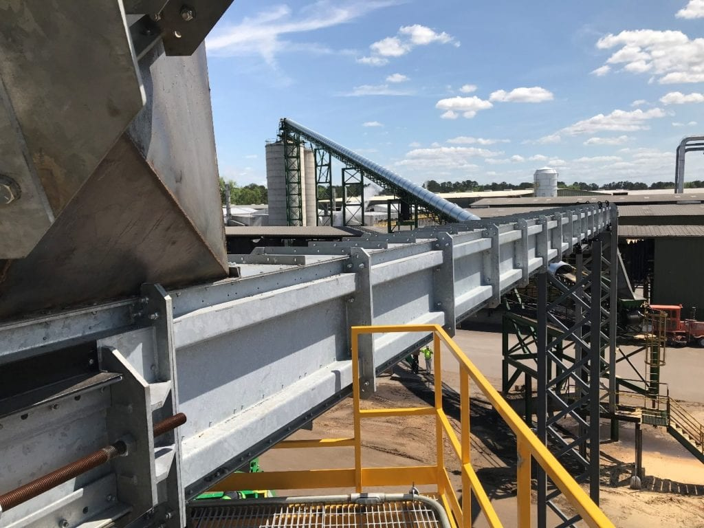 canfor galvanized drag chain conveyor for softwood lumber