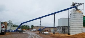 S-Series SMART Conveyor at Challenger Pallet from Waste Processing to Silo