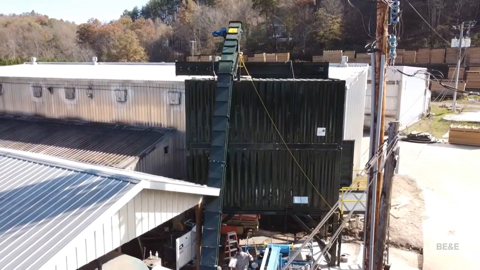 Double-Stack SMART Container for sawmill sawdust - live floor silo